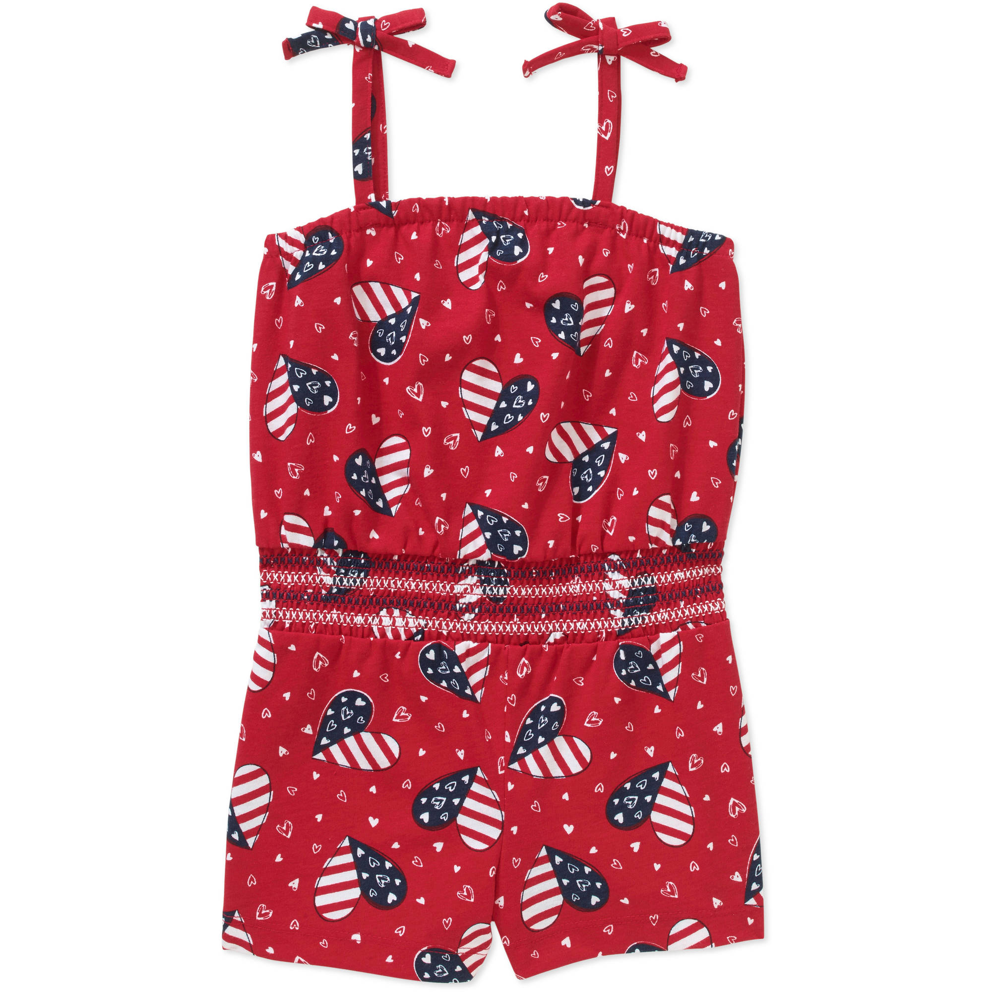 Healthtex Baby Toddler Girl Tie Top Knit Romper