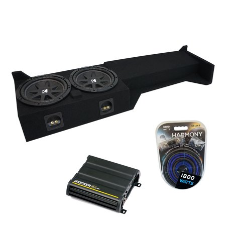 """05-15 Fits Nissan Frontier Crew Cab Kicker Comp C10 Dual 10"""" Sub Box CX600.1 Amp - Factory Certified Refurbished"""