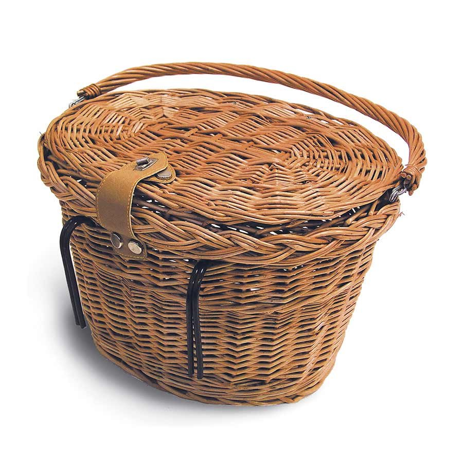 Basil, Denver Wicker Oval Basket w/lid 15020 Nat