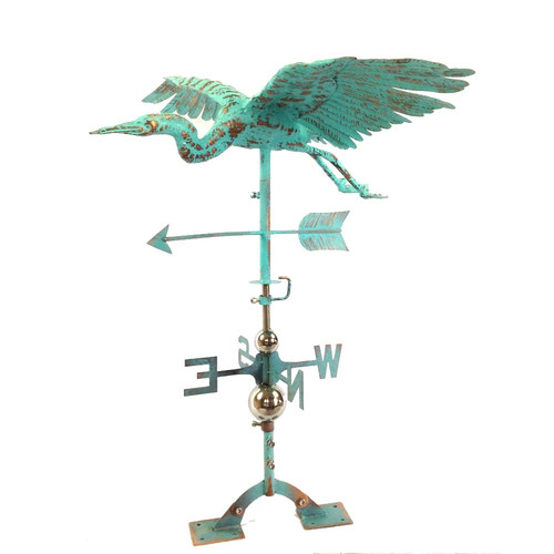 Rustic Copper Steel Bird Weathervane by Benzara Inc.