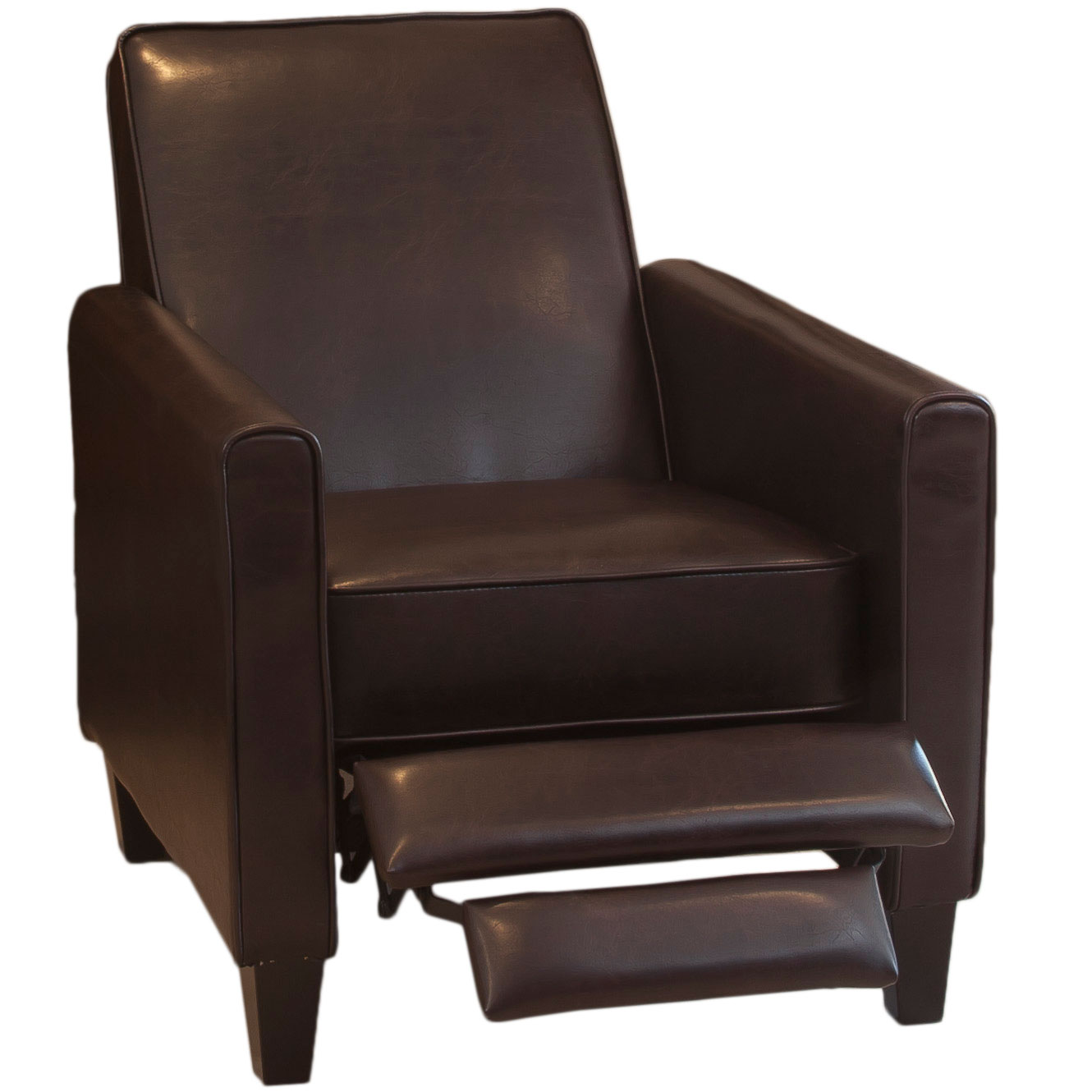 Pierce Bonded Leather Recliner Club Chair