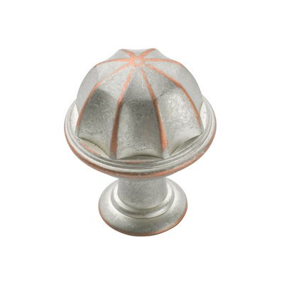 Eydon 1 in (25 mm) Diameter Weathered Nickel Copper Cabinet Knob Diameter Weathered Copper Knob