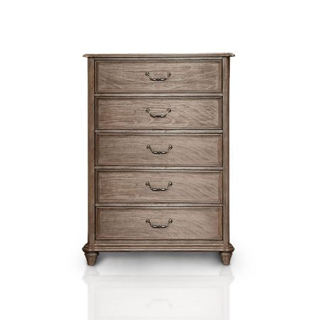 Furniture of America Miraglia 5 Drawer Chest - Natural
