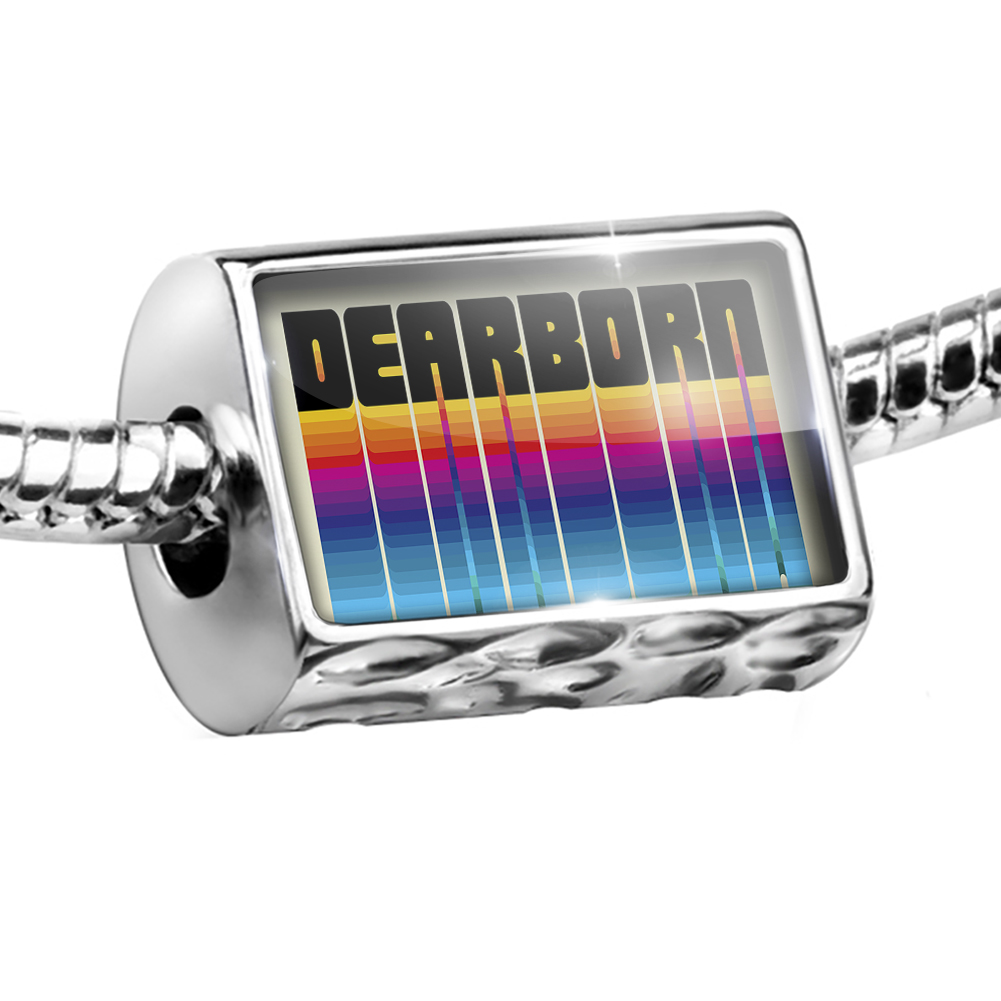 Bead Retro Cites States Countries Dearborn Charm Fits All European Bracelets
