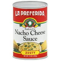 La Preferida Zesty Nacho Cheese Sauce, 15 oz, (Pack of 12)