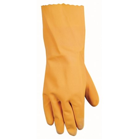 - Latex Coated Work Gloves with Gauntlet Cuff and Flocked Lining, Large (173L), Protect your hands and wrists while working with liquids and.., By Wells Lamont