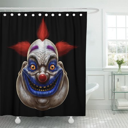 PKNMT Red Evil Scary Smiling Fat Clown Halloween Circus Character Shower Curtain 60x72 inches](Scary Halloween Circus Music)