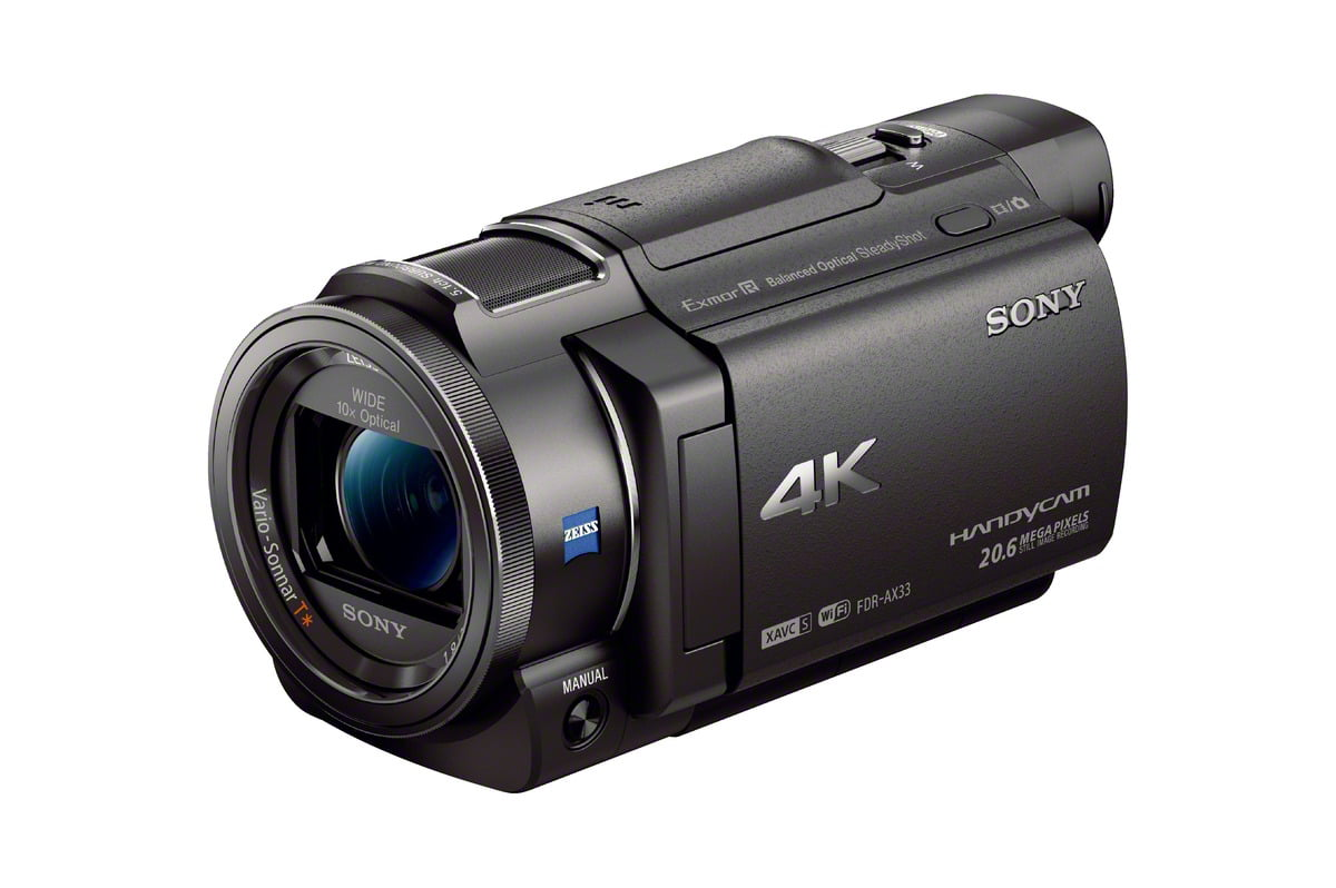 "FDR-AX33 B 4K Camcorder with 1 2.3"" sensor by Sony"