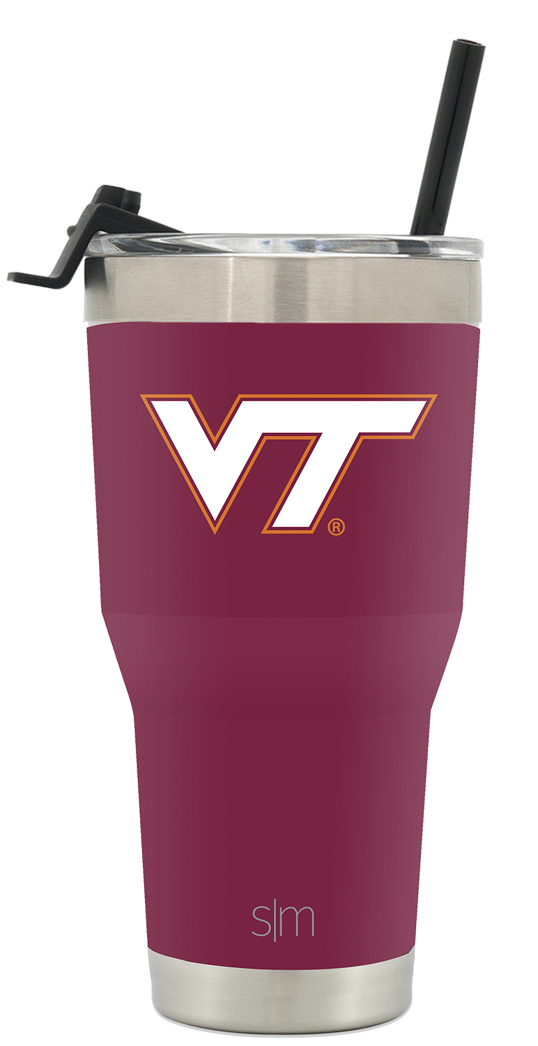Simple Modern College 30oz Cruiser Tumbler with Straw /& Closing Lid Virginia Tech Hokies 18//8 Stainless Steel Vacuum Insulated NCAA University Cup Mug