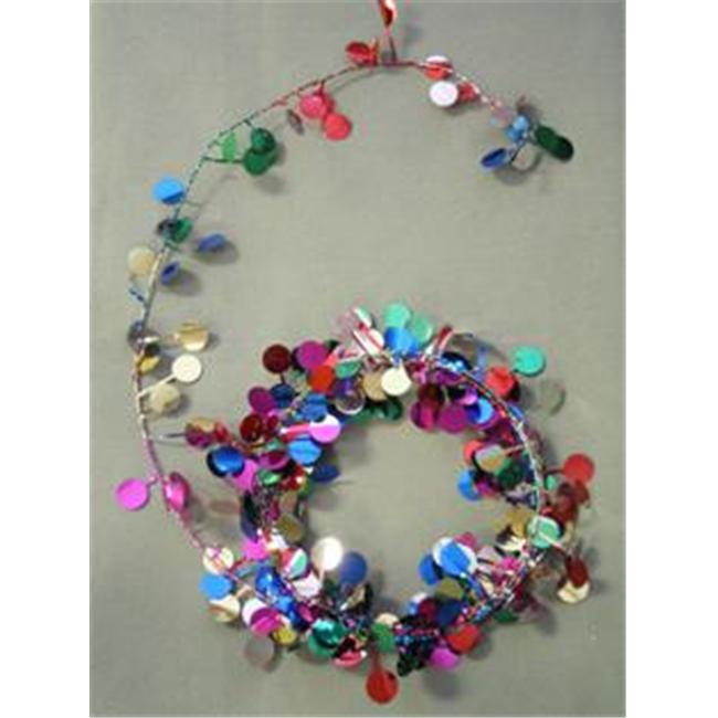 Party Deco 04516 9 ft.  Multi Balloons Wire Garland - Pack of 12