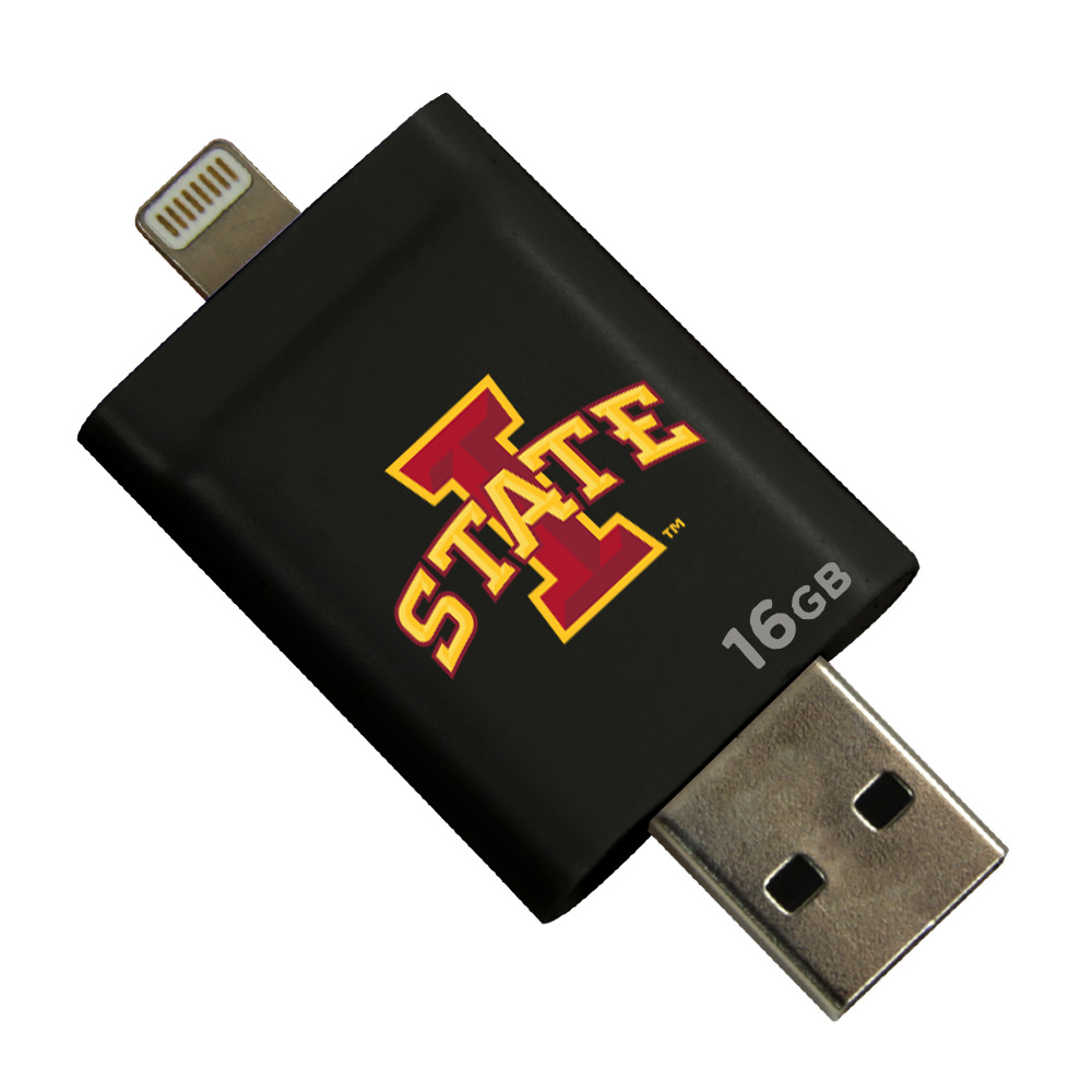 Iowa State Cyclones i-FlashDrive HD USB Drive 16GB - Black