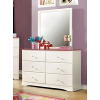 Furniture of America Aubrey Youth Dresser & Mirror Set, Multiple Colors