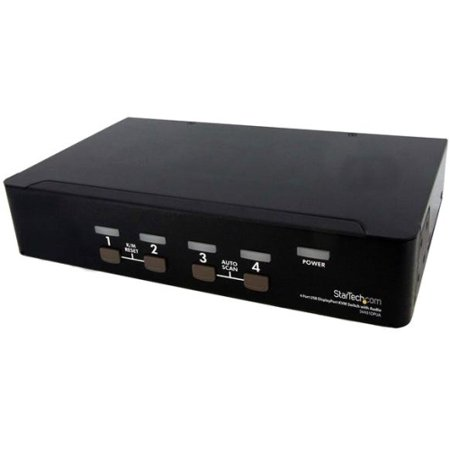 StarTech.com 4 Port USB DisplayPort KVM Switch with