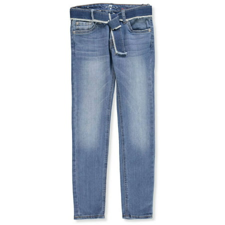 7 For All Mankind Girls' Belted Skinny (Seven For All Mankind Button Fly Jeans)