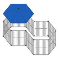 "Aleko 10 Panel Heavy Duty Dog Playpen Kit, Large, 23""Lx 17""W x 5""H"
