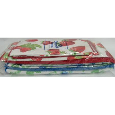 Berry Tea Set - Smart Home Berry Design 12 Pc Mat & Kitchen Towel Set