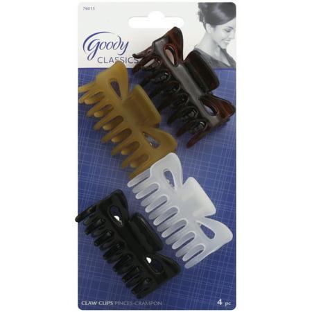 Goody Classics Medium Claw Clip, Assorted Colors 4 ea