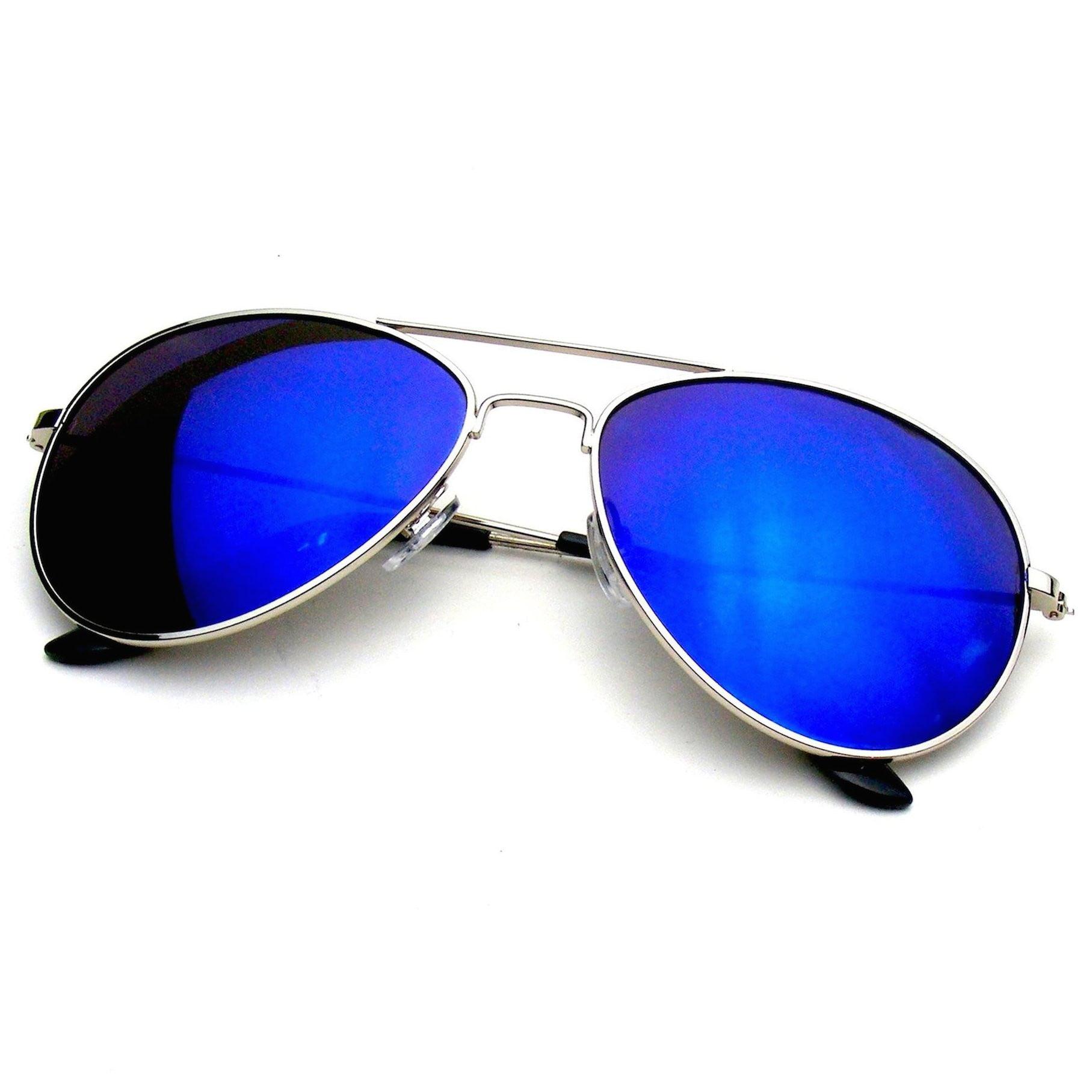 385e8cd812 Emblem Eyewear - Emblem Eyewear - Premium Classic Metal Frame Reflective  Mirror Lens Aviator Sunglasses - Walmart.com