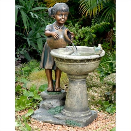 Pemberly Row Bird Bath Outdoor Water Fountain (Outdoor Water Fountain)