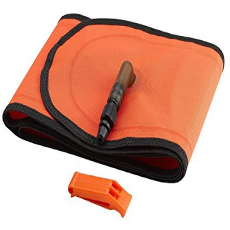 Safety Signal Tube (Scuba Diver Signal Tube Marker Buoy with Inflator and Safety Whistle)