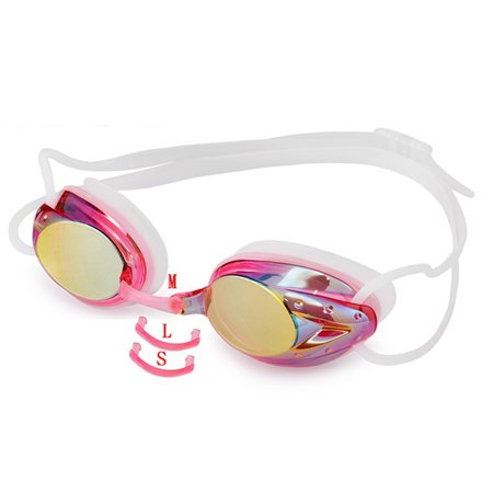 Waterproof and Anti-fog Colorful Plating Swimming Goggles Transparent silver plating - image 4 of 5