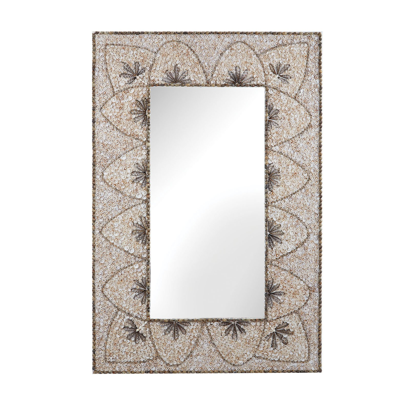 Dimond Home Flower Arc Shell Wall Mirror - 31.5W x 48H in.