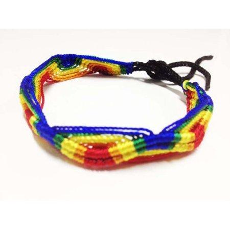 - FRIENDSHIP FLAT BRACELETS From Peru- LOT OF 5- LGBT Rainbow