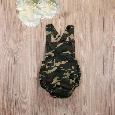 Camouflage Newborn Toddler Infant Baby Girl Boy Romper Bodysuit Jumpsuit Sunsuit Outfits