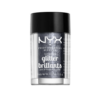 NYX COSMETICS FACE & BODY GLITTER - Gunmetal