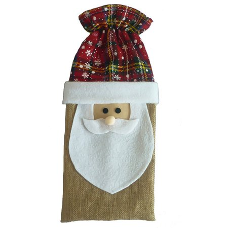 AkoaDa 2019 New Year Navided Christmas Decor For Home Xmas Wine Bottle Bag Cover Santa Claus Deer Bottle Clothes Kitchen Decoration ()