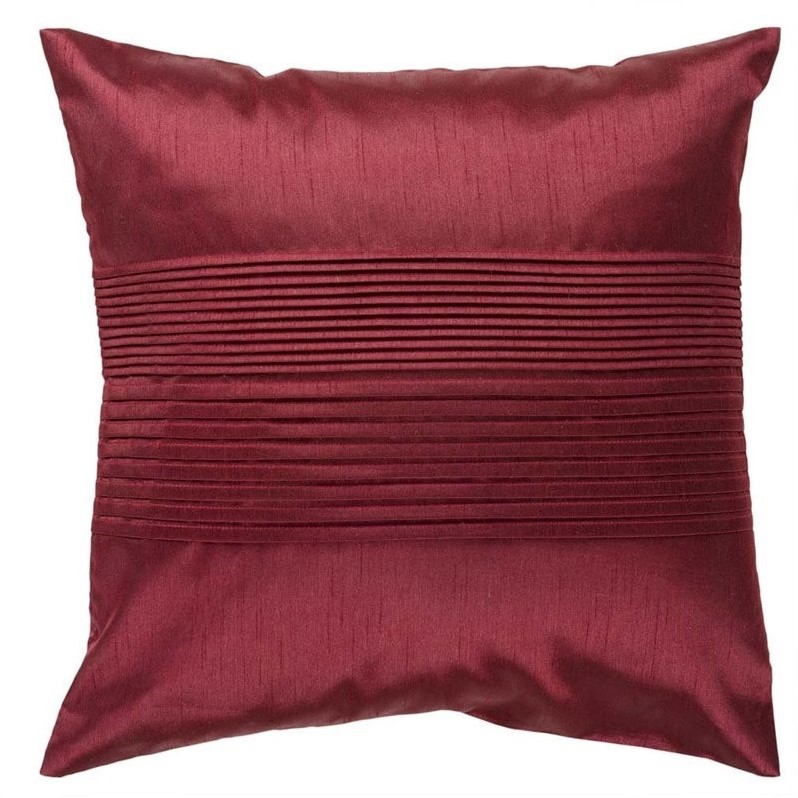 Surya  HH-026  Pillows  Solid Pleated  Home Decor  ;18 x 18 Down Filler