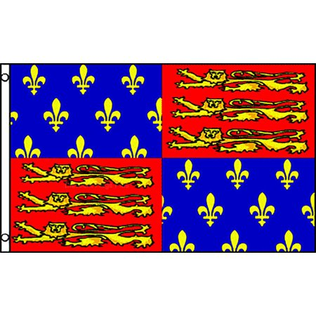 3X5 KING EDWARD III FLAG ENGLAND ENGLISH THIRD NEW -