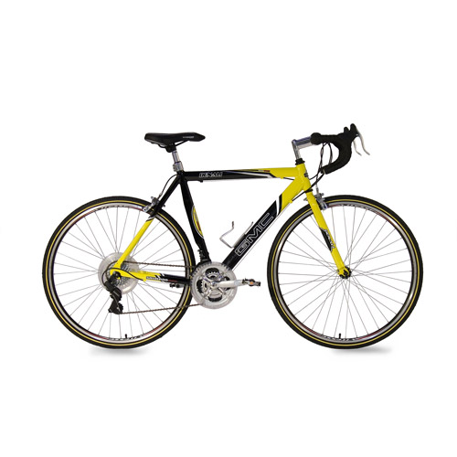 "22.5"" GMC Denali 700c Men's Road Bike, Black/Yellow"