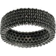 Black CZ Sterling Silver Eternity Ring