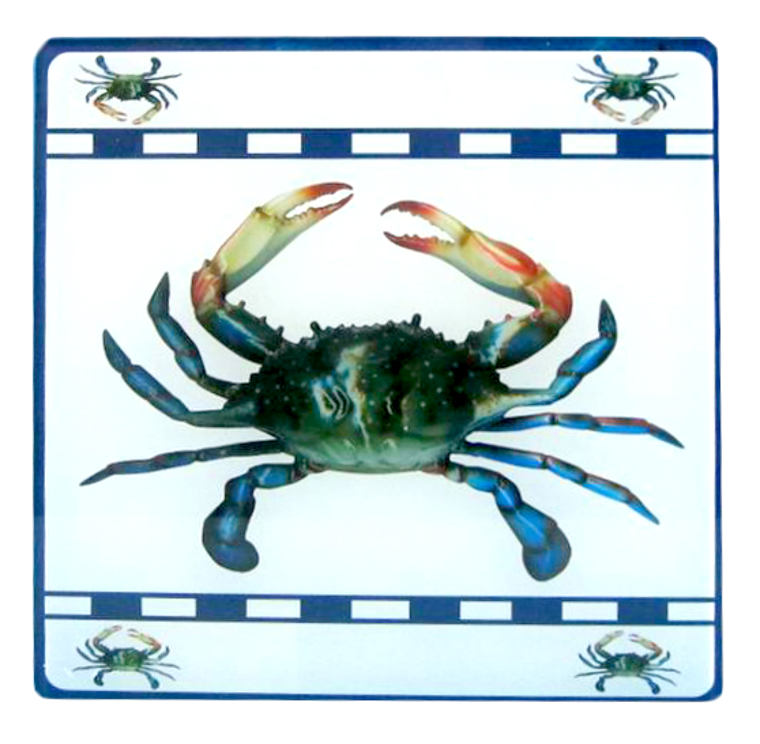Chesapeake Bay Blue Crab Kitchen Dining Glass Trivet