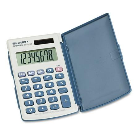 Sharp 8 Digit Handheld Calculator   El 243Sb