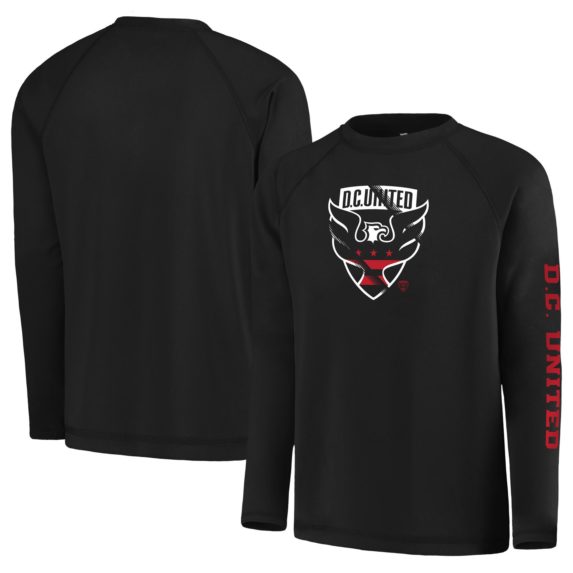 D.C. United Fanatics Branded Youth Vital to Success Long Sleeve T-Shirt - Black