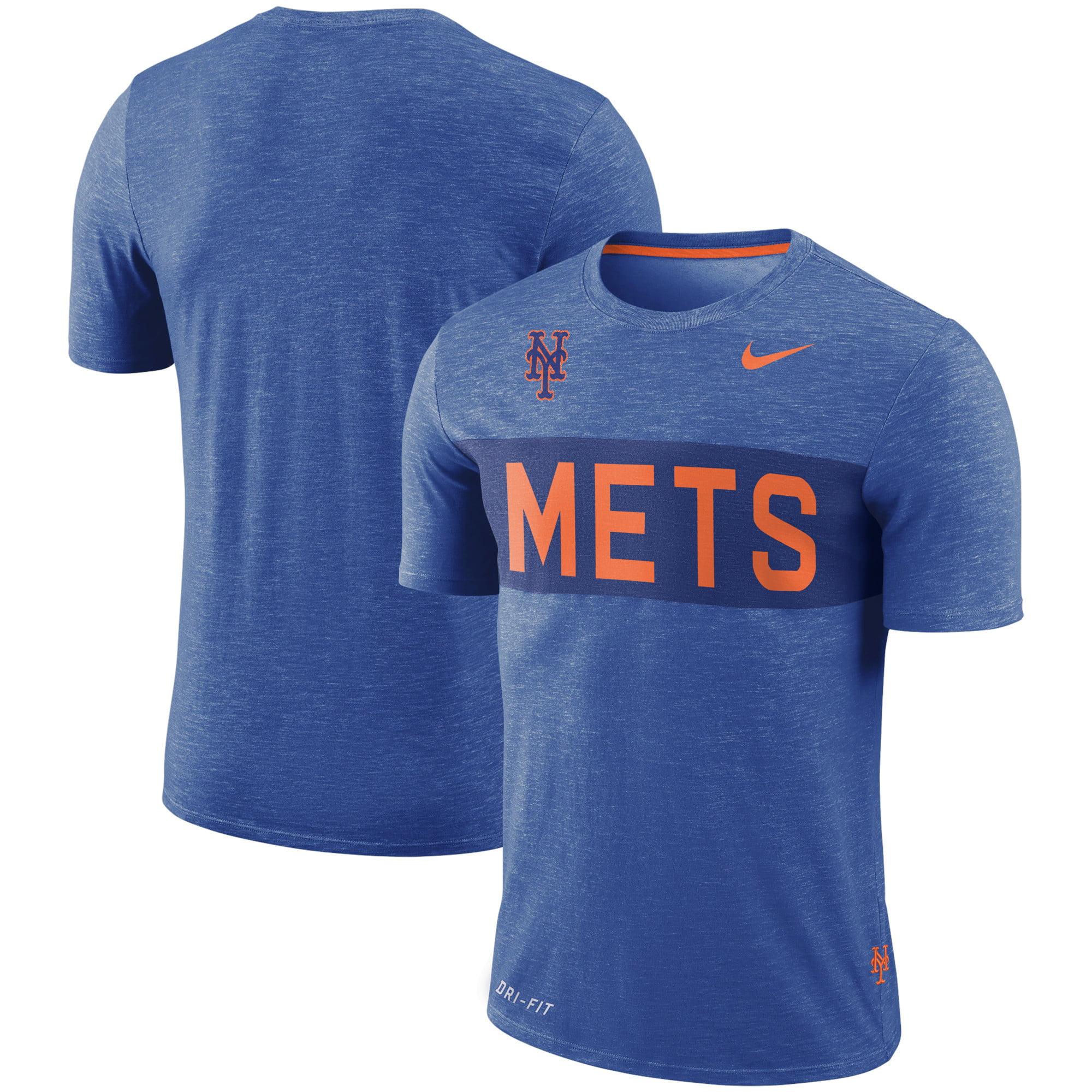 New York Mets Nike Slub Stripe Performance T-Shirt - Royal