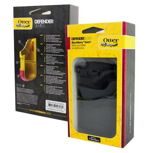 OtterBox - Defender Series Hybrid Case and Holster for BlackBerry Torch 9850/9860  Cell Phones - Black