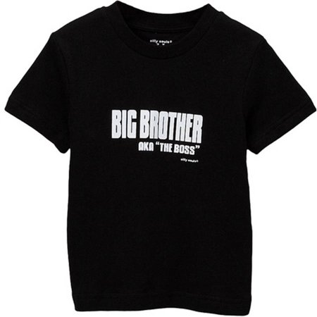 Silly Souls Toddler Boy Big Brother - AKA The Boss Tee