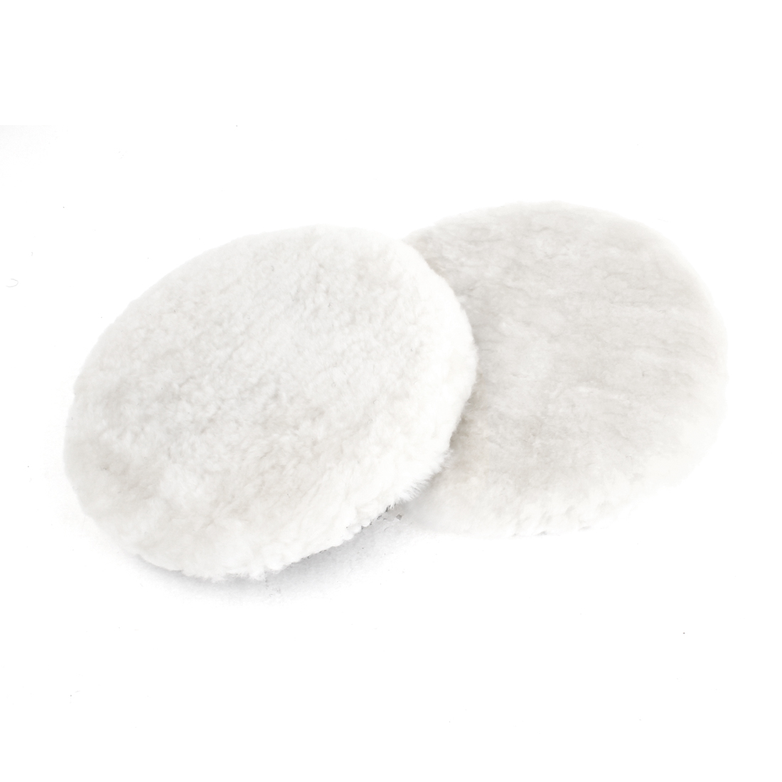 Unique Bargains 2x 16cm Dia White Rounded Faux Wool Buffing Polishing Wheel Pad for Car by Unique Bargains