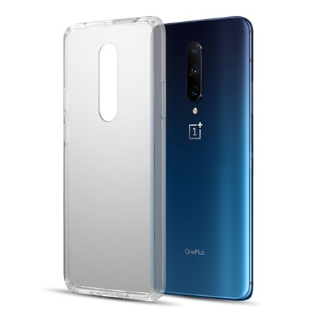 OnePlus 7 Pro Phone Case Ultra Slim Fit Hybrid TPU Rubber Fusion Armor Hard CLEAR Acrylic Transparent Back Full Protective Premium Cover Shockproof Cushion Frame Bumper Phone Case for One Plus 7 Pro