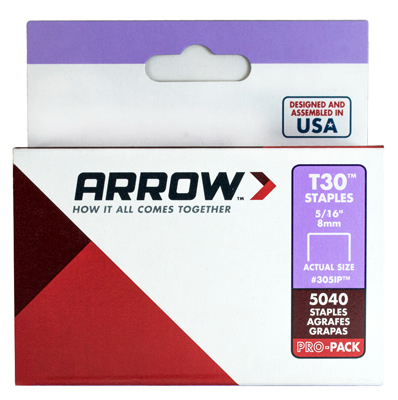 Arrow Fastener 305IP Wire Staples, 5/16-In., 5000-Pk. - Quantity 1