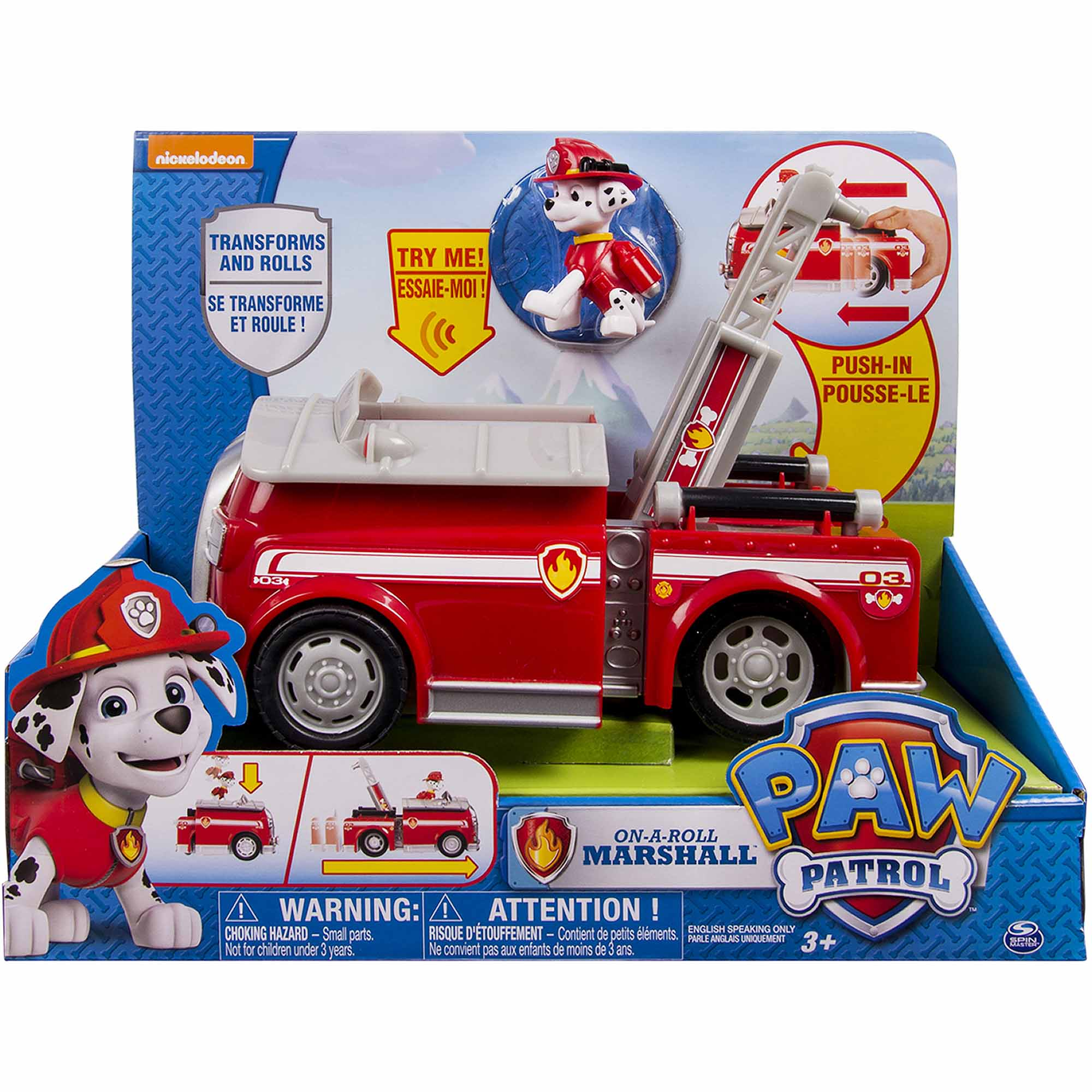 Paw Patrol   On A Roll Marshall, Figure And Vehicle With Sounds    Walmart.com