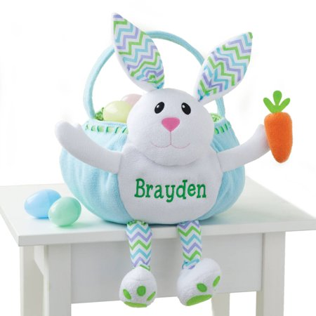 Girls Easter Baskets (Personalized Blue Bunny Easter)