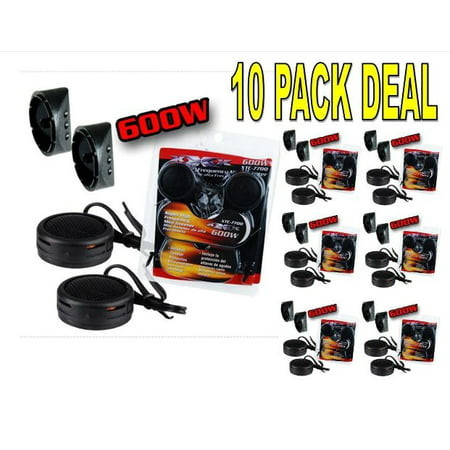 10 PACK 600w High Frequency Car Truck Boat Stereo Tweeters Built-in Crossover