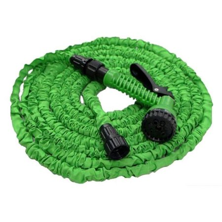 100 FT 30 M Latex Expanding Flexible Garden Water Hose Pipe W/Spray