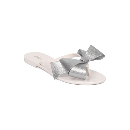 06b64871304731 Melissa - Two Tone Thong Sandal - Bow Slip On Sandal - Bow Tie Slide - Harmonic  Bow III by Mel Dreamed By Melissa - Walmart.com