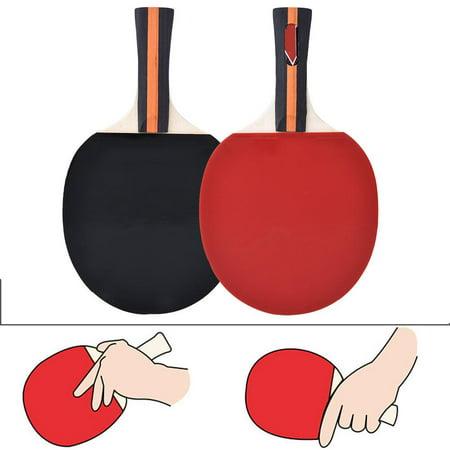 Sonew 2pcs Professional Training Table Bat Tennis Portable Ping Pong Racket Set with Bag & 3 Balls, Ping Pong Racket, Table Tennis Racket - image 1 de 8