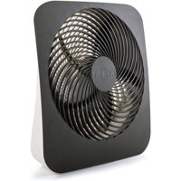 Treva 10 inch Battery Powered Portable 2 Speed Table Fan with Adapter, Black